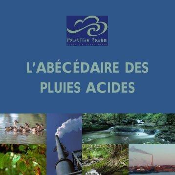 Sources des pluies acides - Pollution Probe