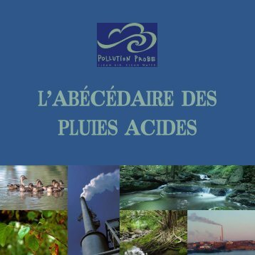 Sources des pluies acides - Pollution Probe