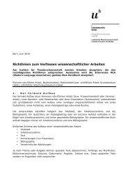 Richtlinien für schriftliche Arbeiten - Institut für Theaterwissenschaft