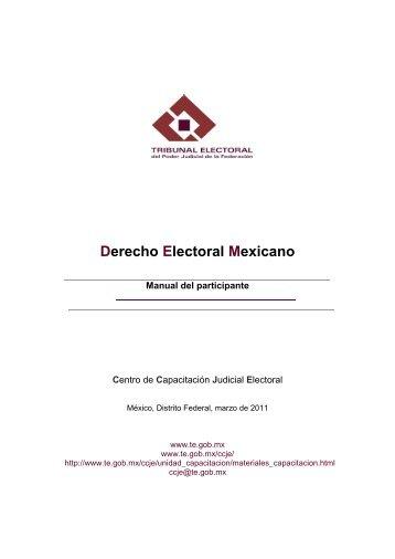Manual - Tribunal Electoral del Poder Judicial de la Federación