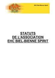 STATUTS DE L'ASSOCIATION EHC BIEL-BIENNE SPIRIT