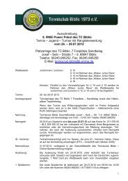 Ausschreibung Sommer 2012_26 bis 290712 - TC Biblis