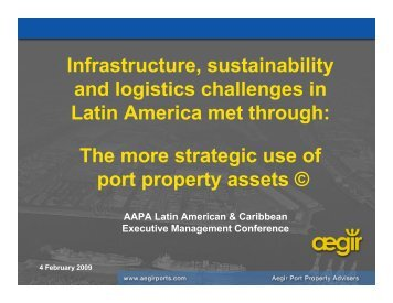 Infrastructure, sustainability and logistics challenges in Latin ...