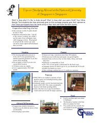 tips for study abroad NUS - Office of International Education