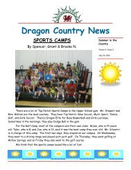 Dragon Country News - Glenelg Country School