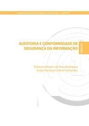 AUDITORIA E CONFORMIDADE DE SEGURANÇA DA INFORMAÇÃO