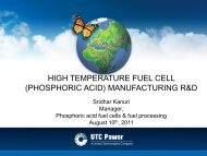 High Temperature Fuel Cell (Phosphoric Acid ... - EERE