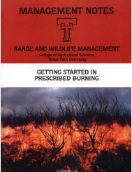 Getting Started in Prescribed Burning - Texas Parks & Wildlife ...