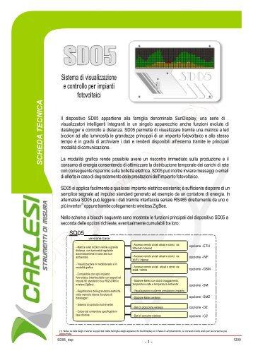 Sistema di visualizzazione e controllo per ... - Carlesi strumenti