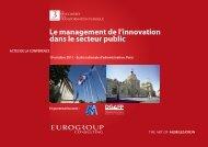 Le management de l'innovation dans le secteur public - Eurogroup ...