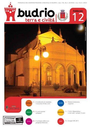 Notiziario comunale del mese febbraio 2012 - Comune di Budrio