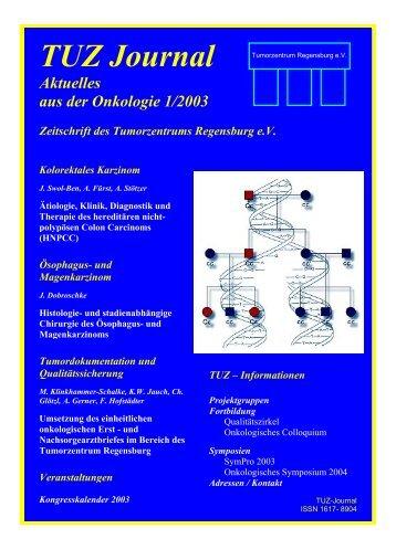 TUZ Journal - Tumorzentrum Regensburg eV