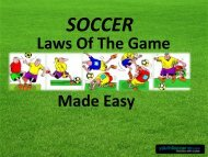 Laws Of The Game Made Easy - Land Park Soccer Club
