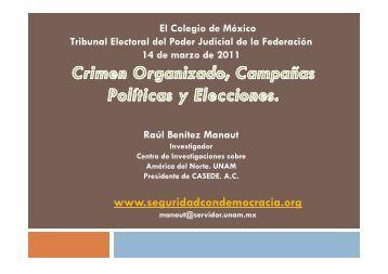 Raúl Benítez Manaut - Tribunal Electoral del Poder Judicial de la ...
