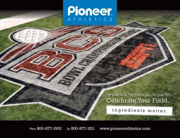 Download Pioneer's current catalog - Pioneer Athletics
