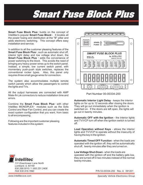 Smart Fuse Block Plus - Fleming Sales OEM Products
