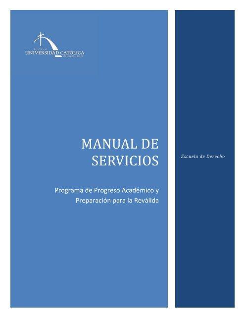 Descarga el Manual del Programa - Escuela de Derecho - Pontificia ...