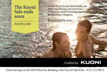 The Kuoni Sale ends soon - Travel Club Elite