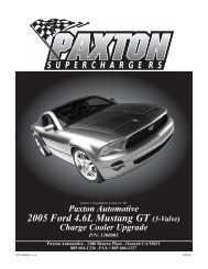 air cooler upgrade - Paxton Superchargers