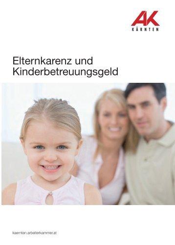 Elternkarenz und Kinderbetreuungsgeld