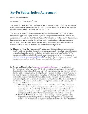 Subscription Agreement Template Seo Contract Template Formatseo