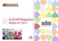 Scarica il media kit di A+D+M Magazine 2013 - A+D+M Network