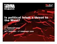 Is political Islam a threat to the West? - Support