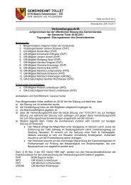 GR-Sitzung 30.06.2011 (770 KB) - .PDF - Tollet