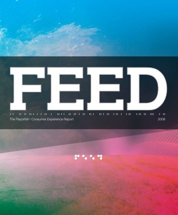 The Razorfish™ Consumer Experience Report 2008 - Feed