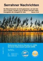 Serrahner Nachrichten 1/2012 - in der Rehaklinik Serrahn