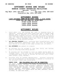 Attorney hours and rules - Monroe County Sheriff's Office