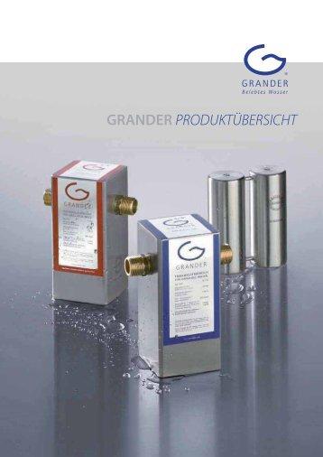 Download Produktübersicht - Grander