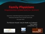 Family Physicians Pleuripotential Actors in Global Health Care