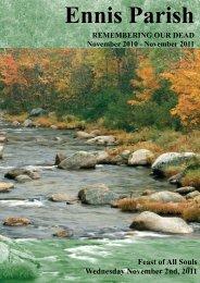 booklet cover 2011 4 - Ennis Parish