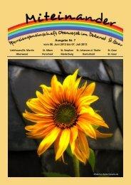 Pfarrbrief Juni/Juli 2013 - Pfarreiengemeinschaft St. Goar