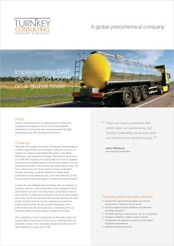 Download the full case study to find out more - Turnkey Consulting
