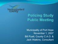 Port Hope - Northumberland County