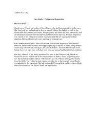 Case Study-- Postpartum Depression