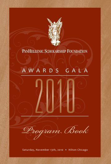 Program Book - PanHellenic Scholarship Foundation