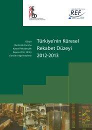 Türkiye'nin Küresel Rekabet Düzeyi 2012-2013 - REF - Sabancı ...