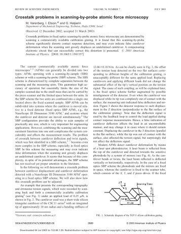 the role of atomic force microscopy essay Atomic force microscopy (afm) analysis of surface structures microscopy and cell structure - chapter 3 microscope techniques microscopes microscopes most important tool for studying microorganisms use viable light to observe objects magnify images approximately 1,000x electron.