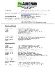 AutoFair Schedule - Charlotte Motor Speedway