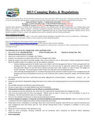 2013 Camping Rules & Regulations - Charlotte Motor Speedway
