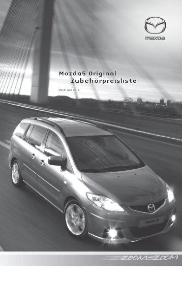Zubehörprospekt Mazda 5 Facelift Typ CR - Autohaus Vollmari GmbH