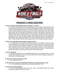UFREQUENTLY ASKED QUESTIONS - Charlotte Motor Speedway