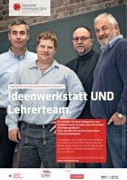 Ideenwerkstatt UND Lehrerteam. - Deutscher Lehrerpreis