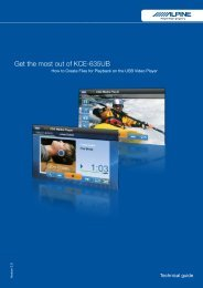Get the most out of KCE-635UB - Alpine
