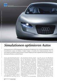 Simulationen optimieren Autos (260 KB) - K Magazin