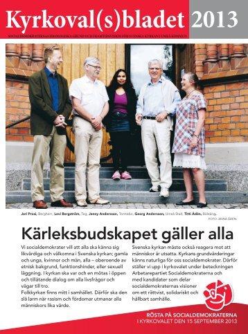 Kyrkoval(s)bladet 2013 - Socialdemokraterna