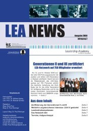 LEA NEWS Ausgabe 2006 - Leadership Academy